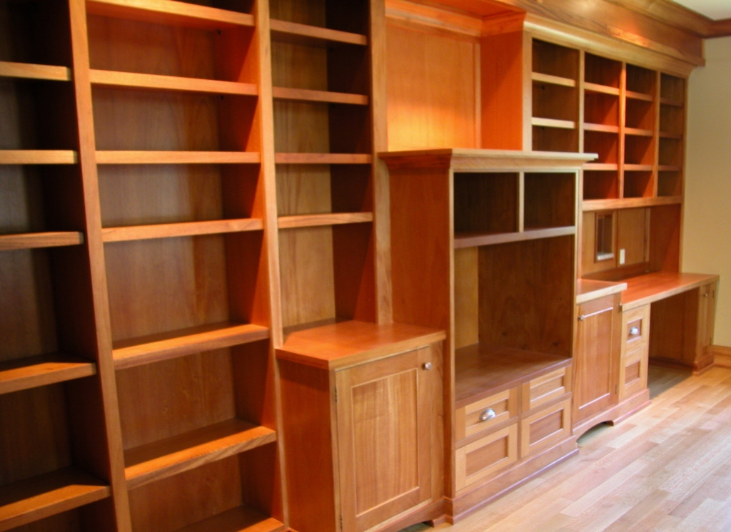 Desk With Built In Bookcase – Arts and Crafts Bookcases