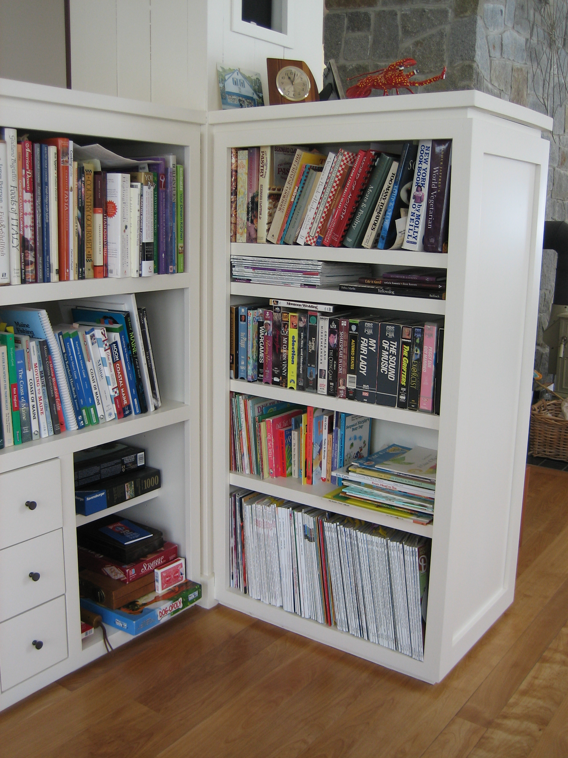 Painted bookcase u2013 Fine Cabinetry and Remodeling