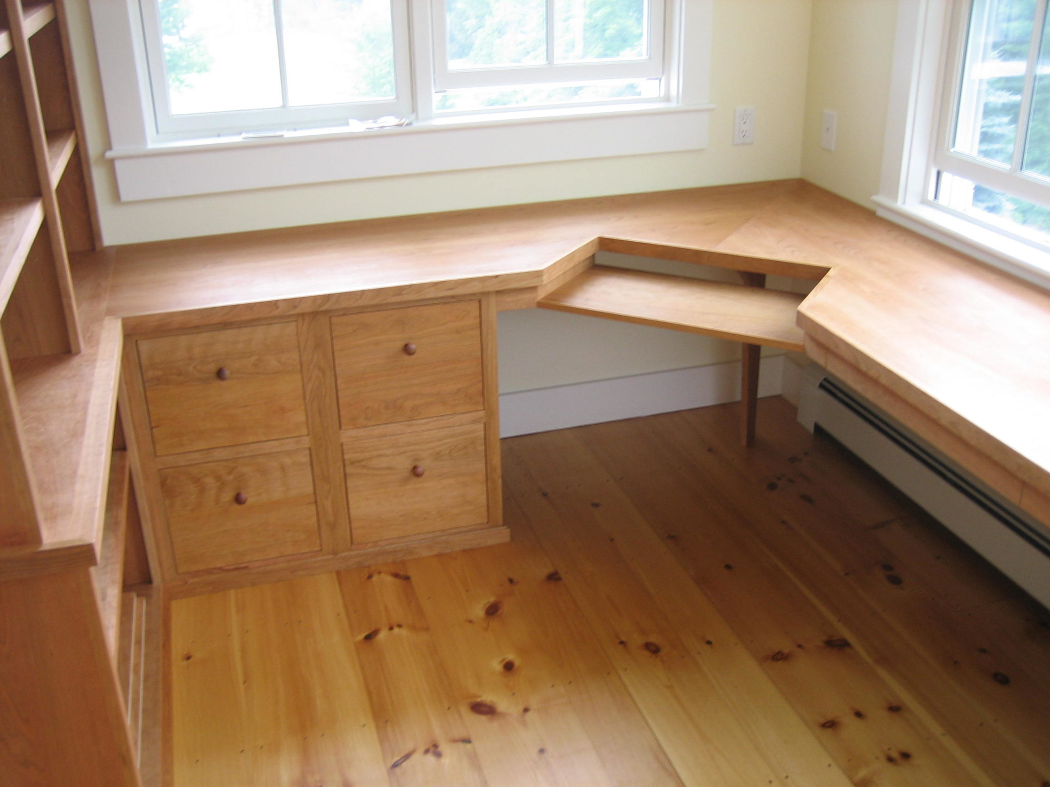 Home office desk fine cabinetry and remodeling - Custom office desk ...
